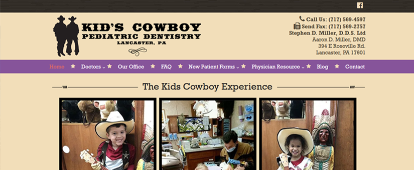 Pediatric Dentist Website Design