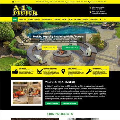 A-1 Mulch landscaping supply website design