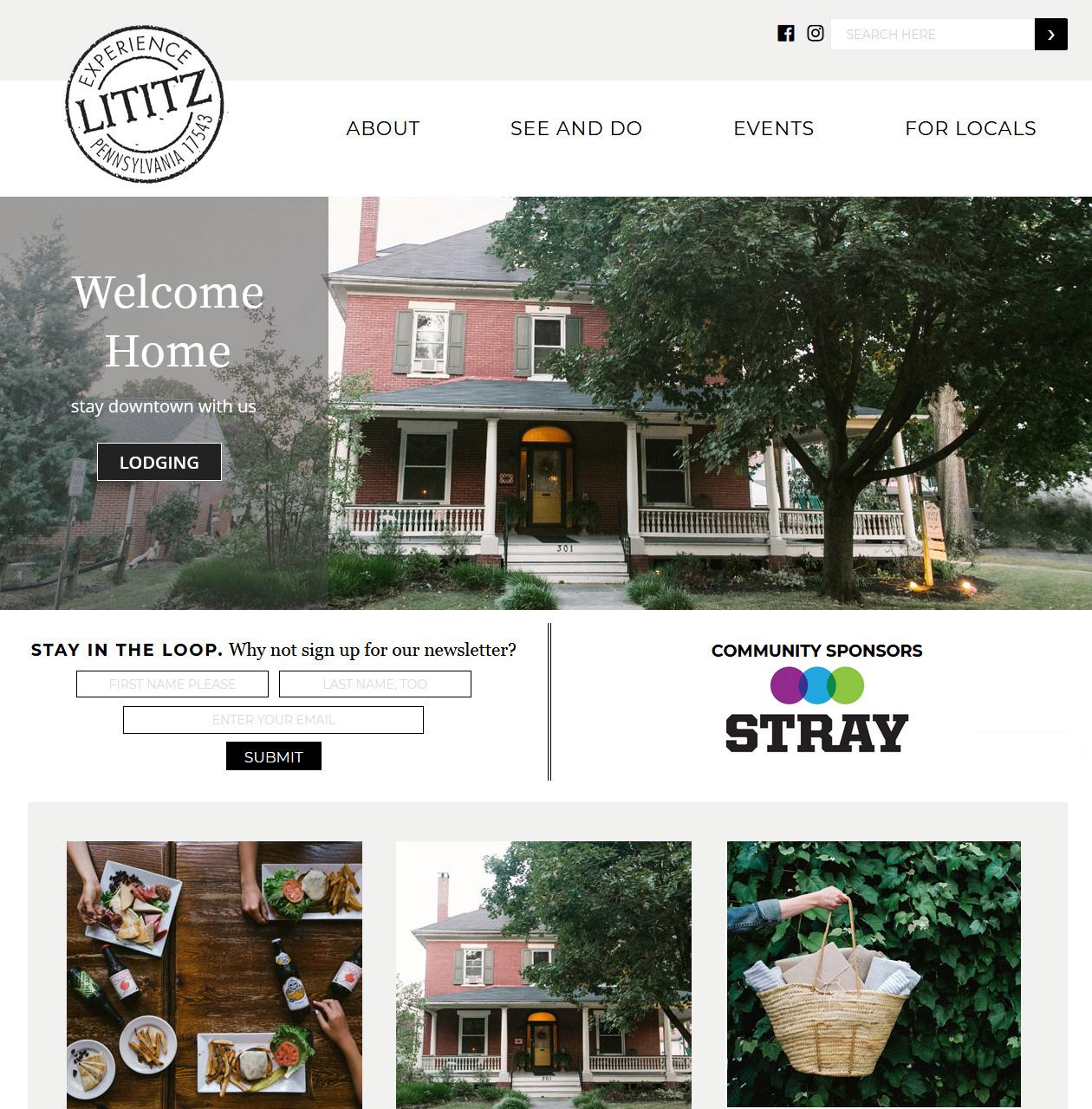 Lititz PA Community Website design