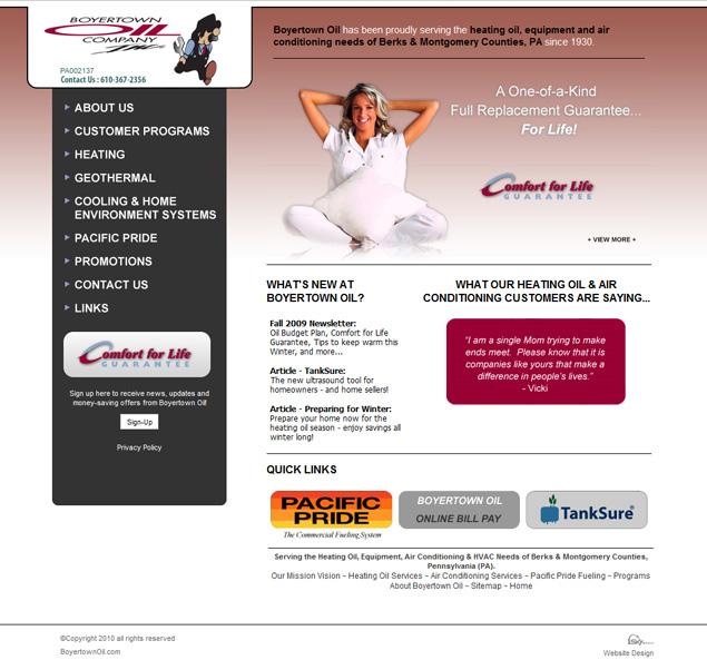 Boyertown Oil Company - oil company website design