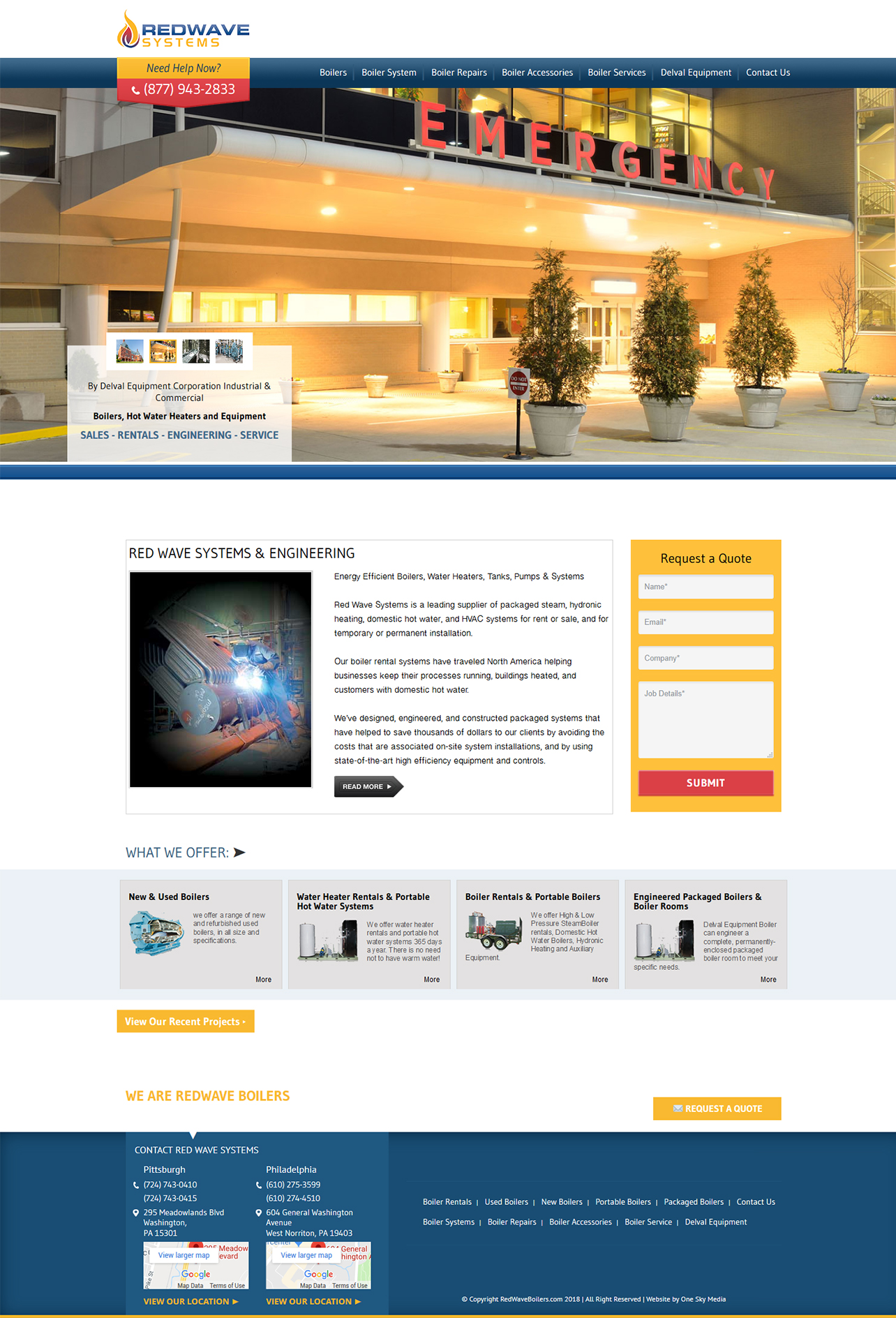 Redwave Systems Boiler Sales & Services website design