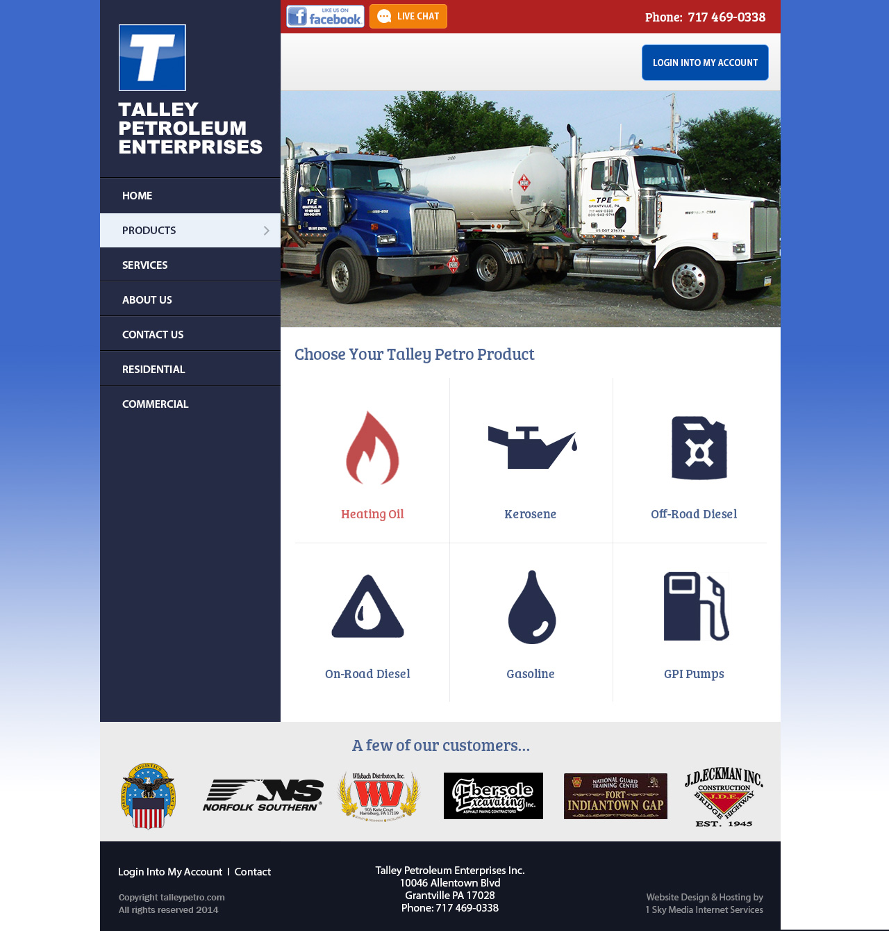 Talley Petroleum Enterprises Oil Company website design