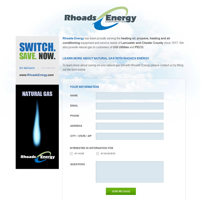 Rhoads Energy Oil & Gas Company - oil & gas company website design