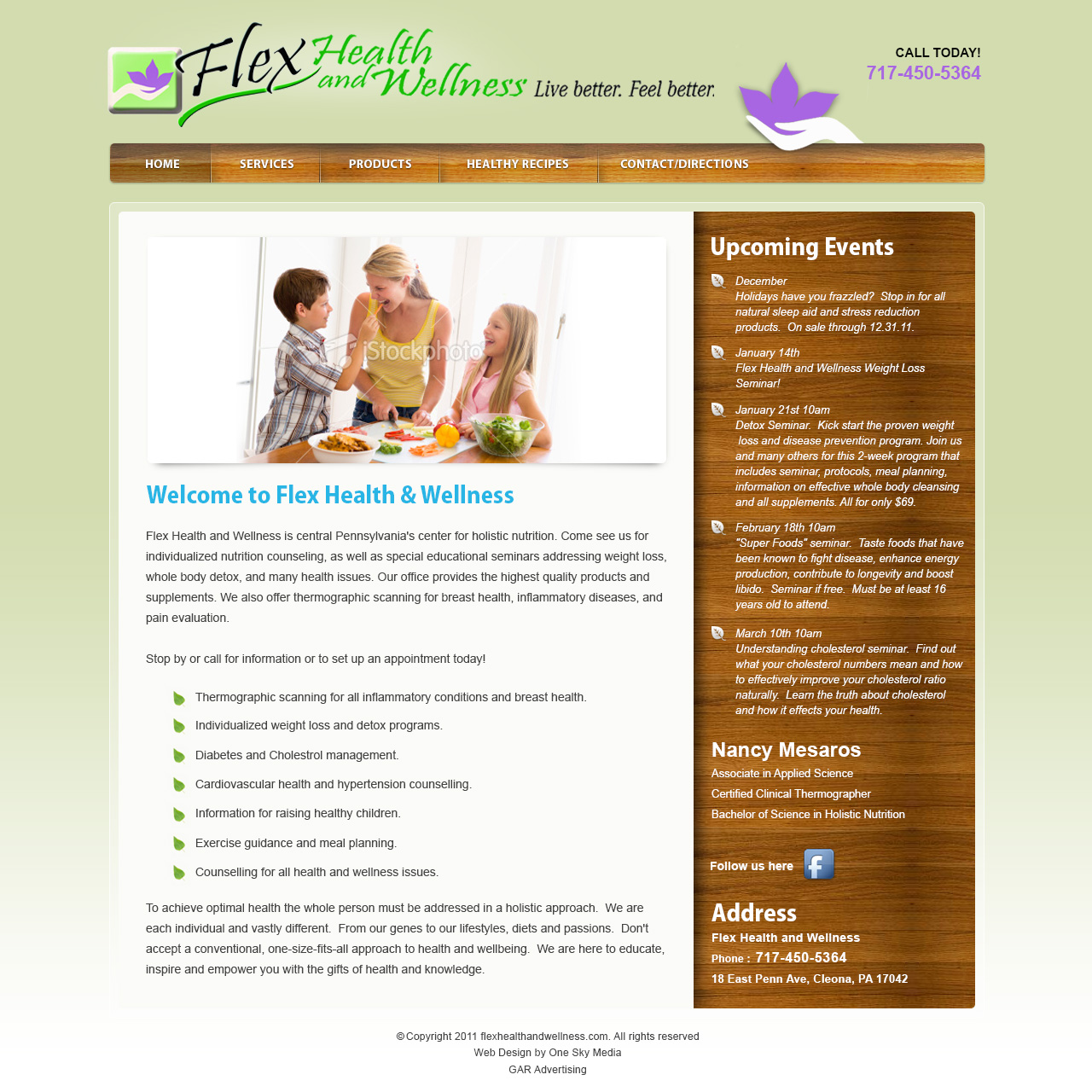 Flex Health and Wellness - helath food and products website design