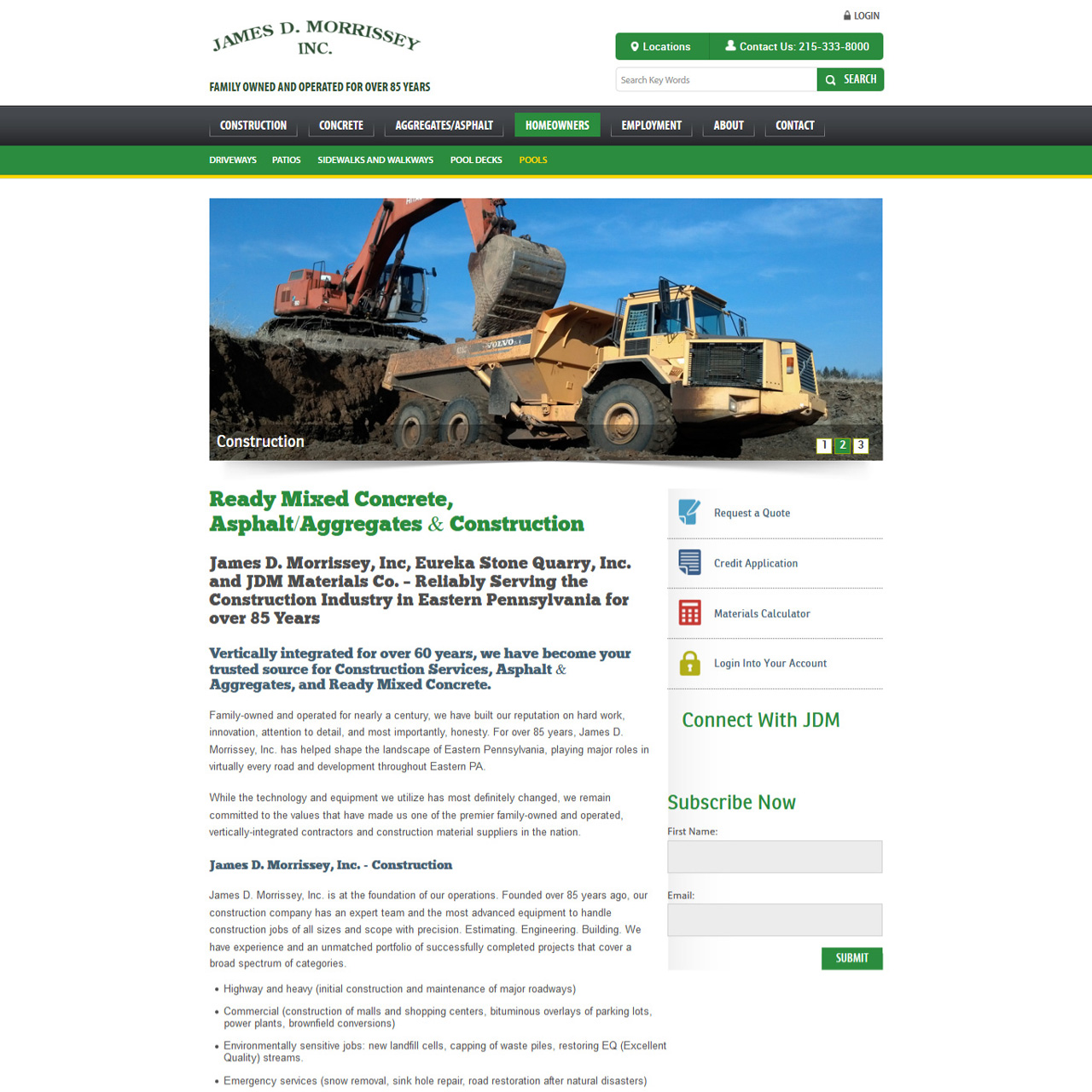 JDM - construction contractors website design