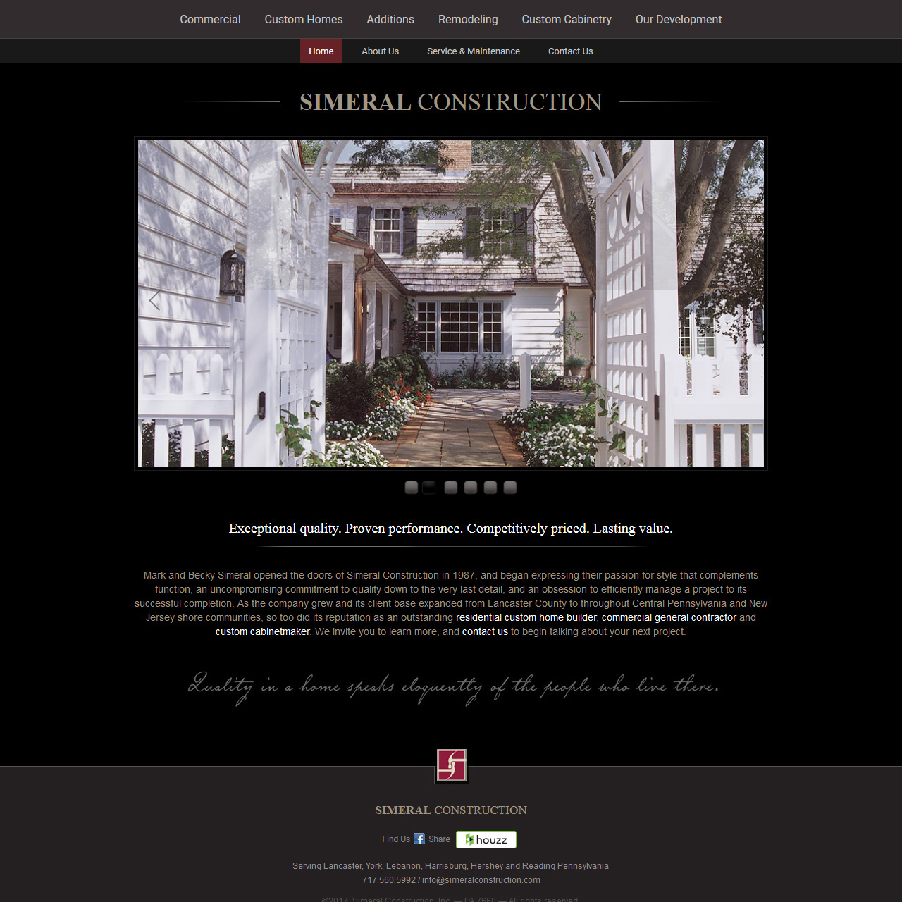 Simeral Construction - home builders website design