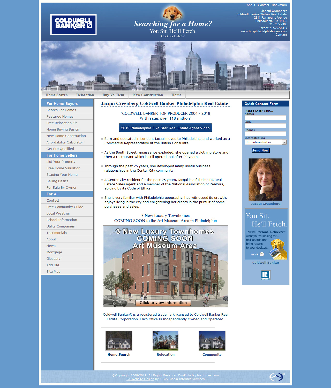Jacqui Greenberg Coldwell Banker - real estate website design