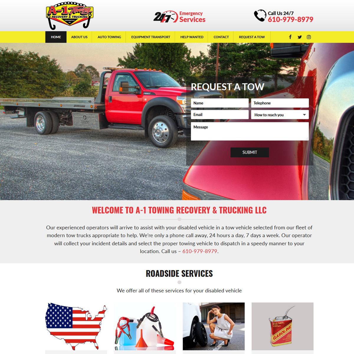 A1 Towing Website Design Website Design