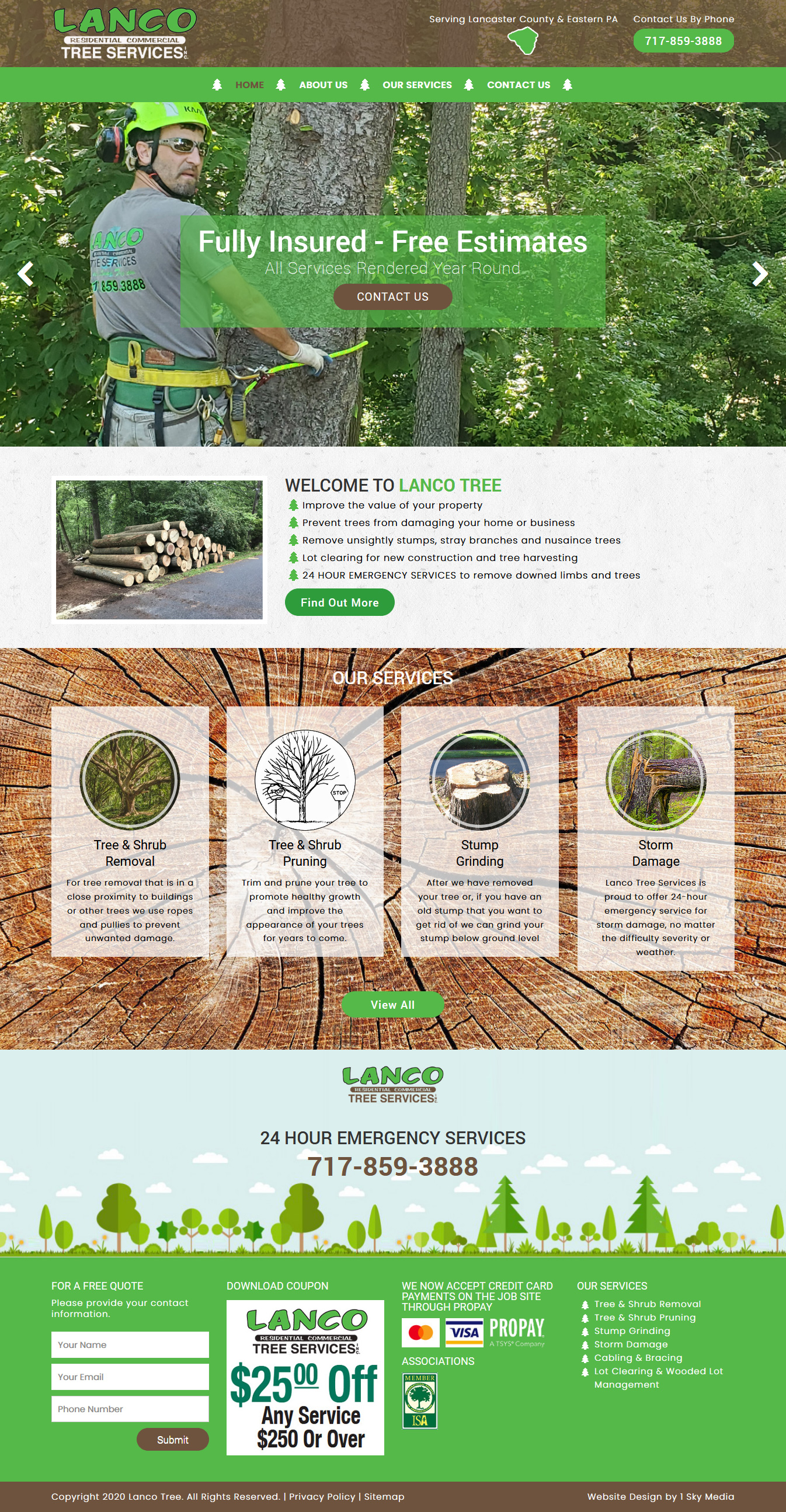 Lanco Tree Services -  Tree removal website design