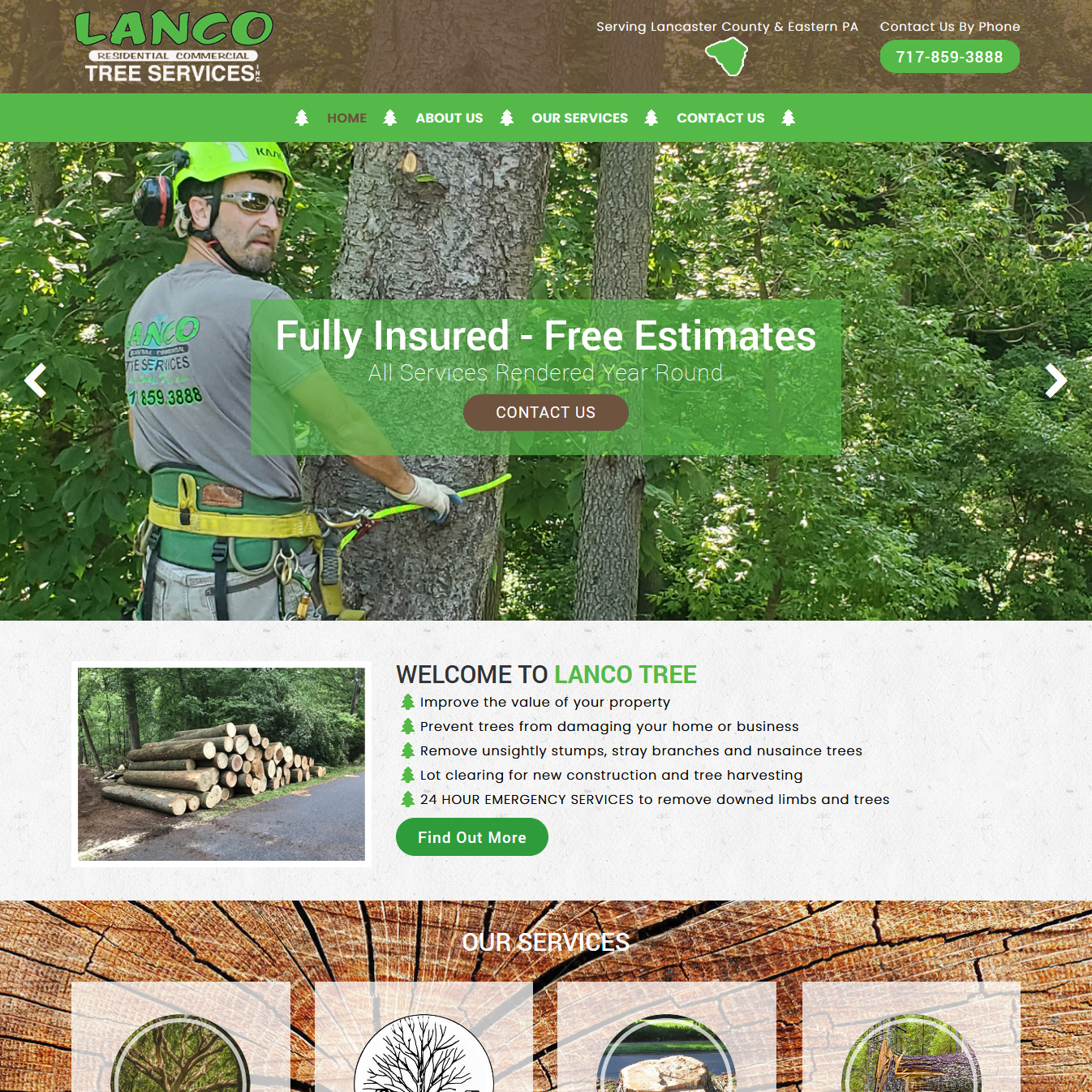 Lanco Tree Services -  Tree removal website design