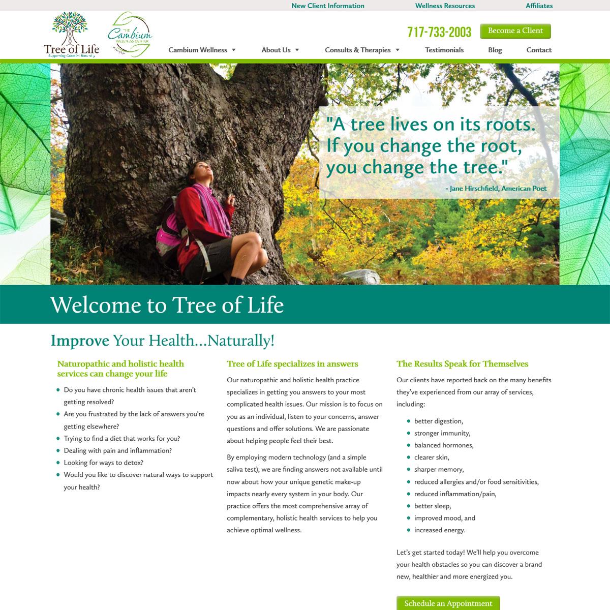 Tree of Life Website Design