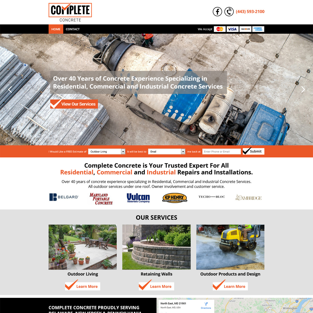 Complete Concrete Website Design