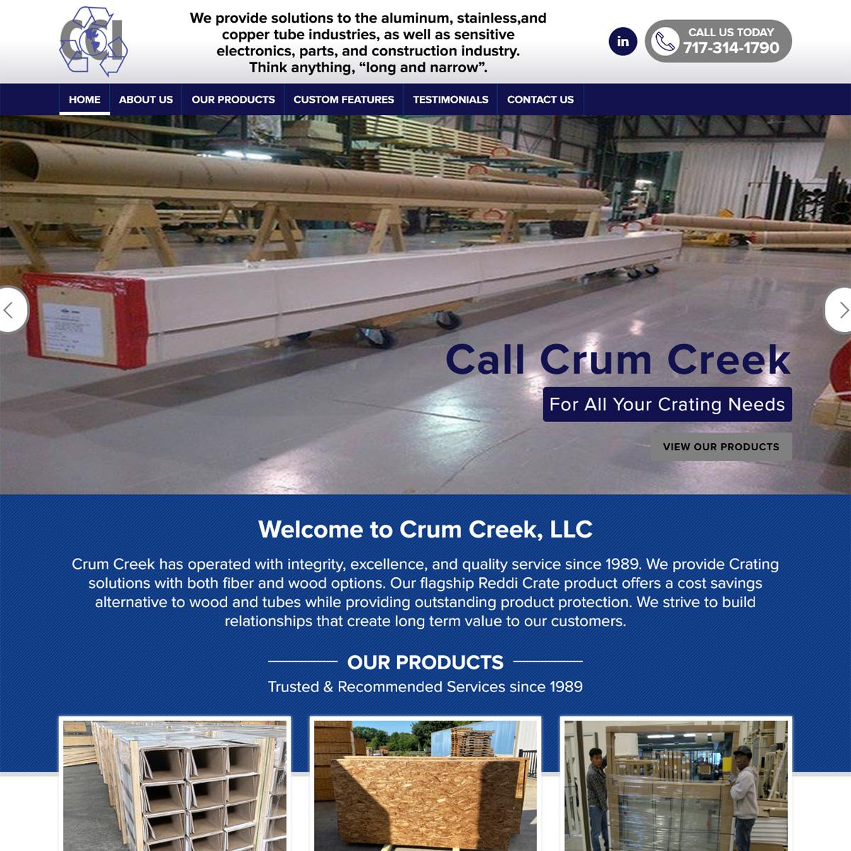 Crum Creek Website Design