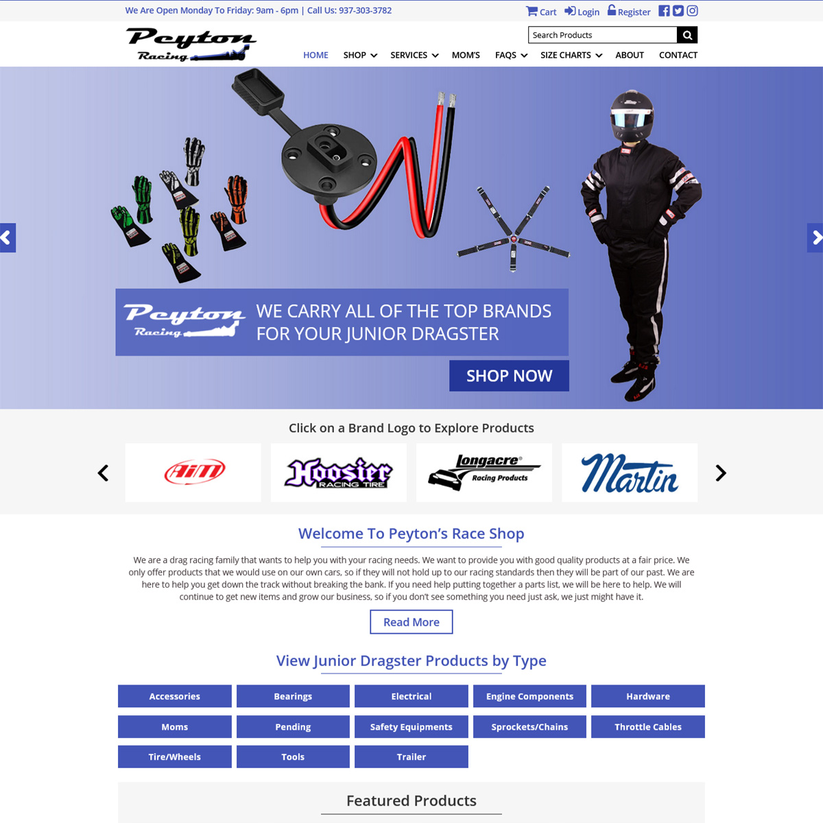 Peyton Racing Website Design