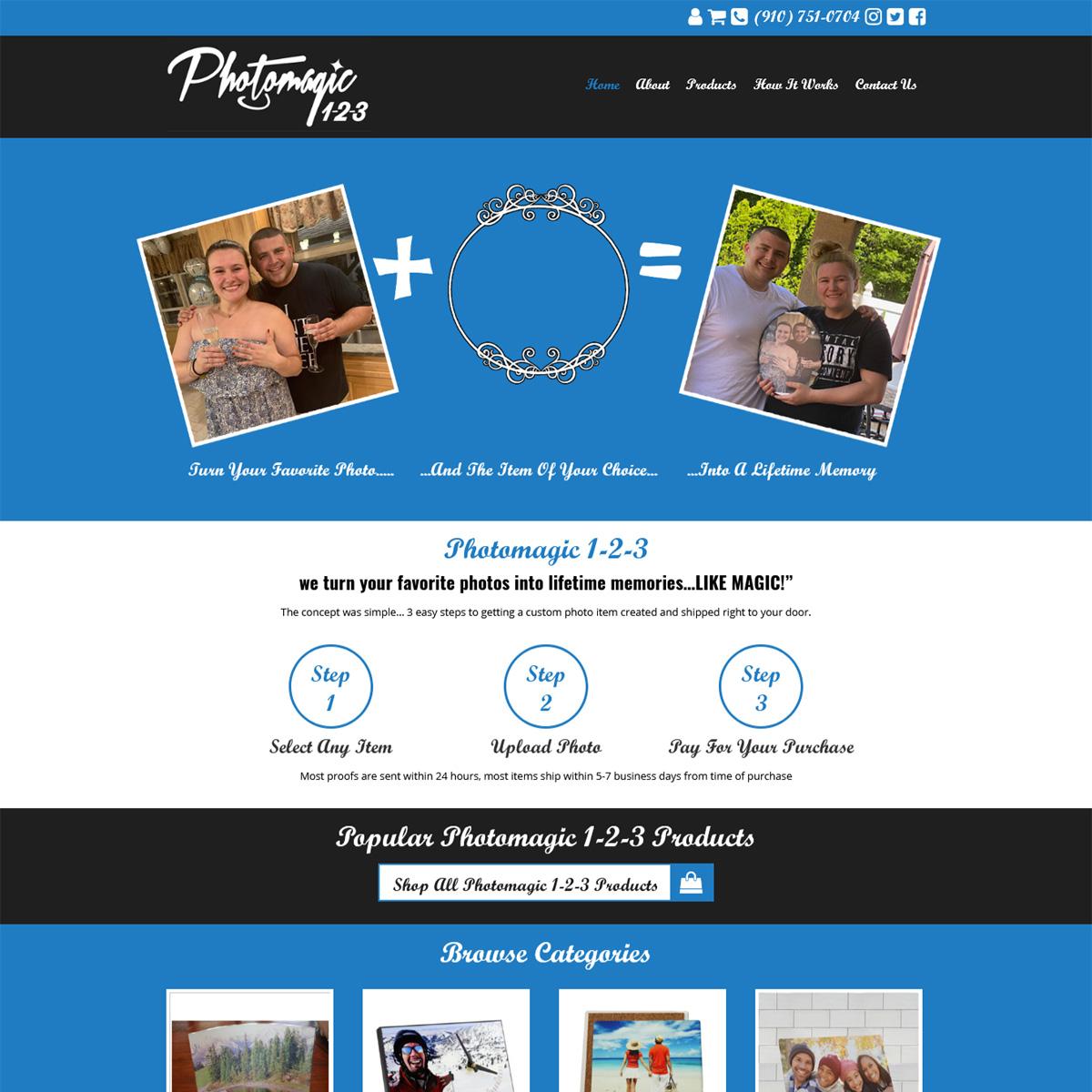 Photo Magic 123 Website Design