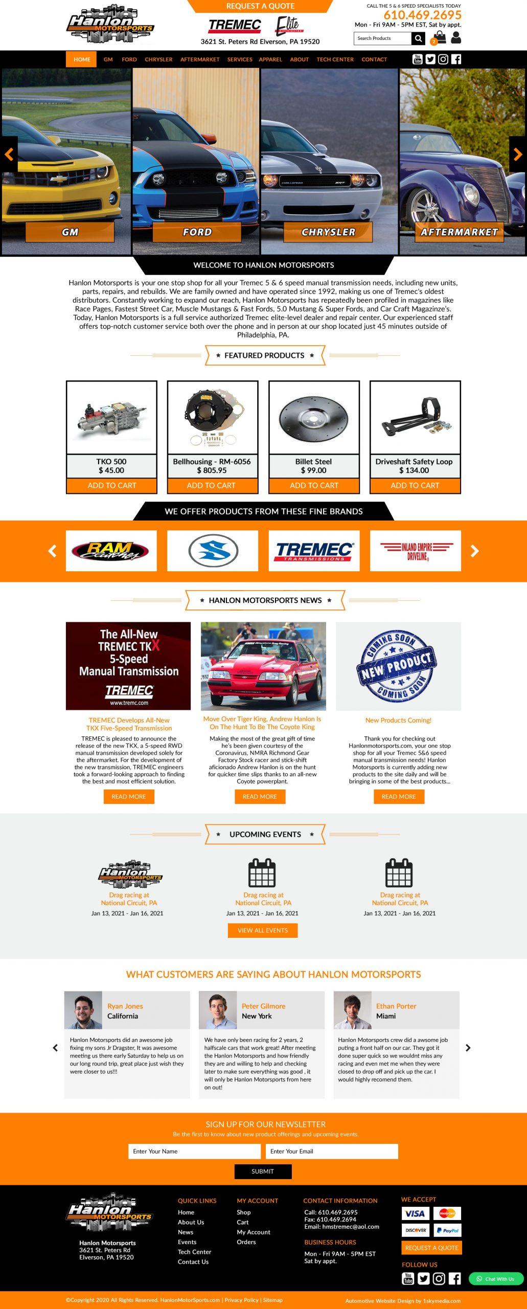 Manual Transmision Sales Website Design